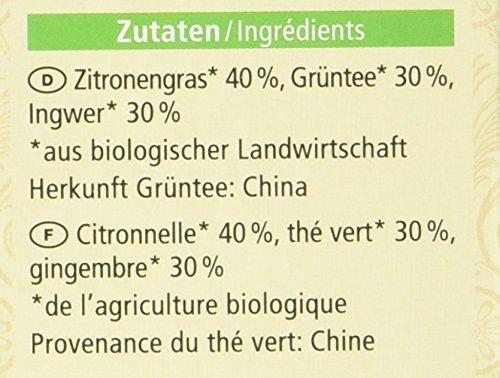 Alnatura Bio Grüner Tee Ingwer Lemon, (20x 1,5 g)
