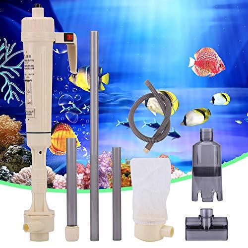Zunate Aquarium Reiniger,Elektrische Benzinpumpe Kanisterpumpe Elektrisch Multi-Batteriepumpe Elektrischer Fischbehälter Staubsauger Siphon Aquarienfilter Aquarienstaubsauger Aquarium Wasserwechsler