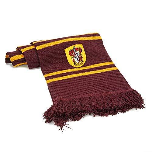 51sq8JG6xfL - Cinereplicas - Harry Potter - Bufanda - Ultra Suave - Licencia Oficial - Casa Gryffindor - 190 cm - Rojo Vivo y Negro
