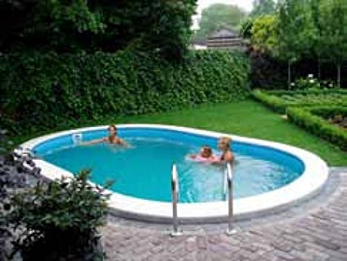 Preisvergleich Produktbild Pool interrata Oval mt5,25X 3,20X 1,20h Platten Stahl Komplett mit Zubehör