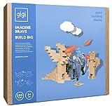 Gigi Blocchi da costruzione giganti: giocattolo creativo composto da 100 blocchi XXL, ideale per ragazze e ragazzi, che offre infinite possibilità di costruzione