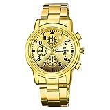 Copelsie Armbanduhr Sport Uhr Quarz Analoge Datums Uhren für Männer Edelstahl Armband Geschenke