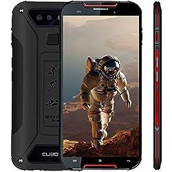 """Outdoor Smartphone 4G LTE CUBOT Quest Lite (Ultra Dünn) IP68 OTA Android 9.0 Dual Nano SIM 3000mAh 3GB RAM+32GB ROM Kamera 13MP+8MP 15.2cm 5"""" HD Display (720x1280) Wasserdicht Staubdicht Stoßfest -Rot"""