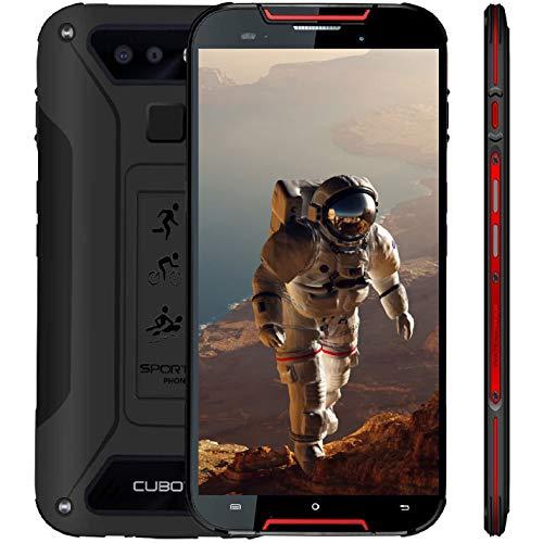 """Outdoor Smartphone 4G LTE CUBOT Quest Lite (Ultra Dünn) IP68 OTA Android 9.0 Dual Nano SIM 3000mAh 3GB RAM+32GB ROM Kamera 13MP+8MP 15.2cm 5\"""" HD Display (720x1280) Wasserdicht Staubdicht Stoßfest -Rot"""