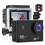 Action Kamera 4K 16MP Sports Cam - BUIEJDOG Ultra Full HD WIFI Action Camera 170 ° Weitwinkel 30 Meter Unterwasserkamera Wasserdicht mit 2 1050mAh Akkus und 18pcs Zubehör Kits