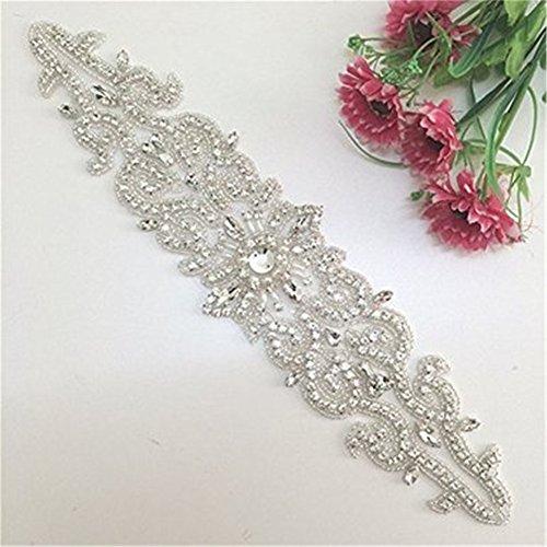 Trlyc avorio cristallo da sposa applique cintura da sposa Sash applique trlyc champagne ribbon