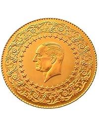 Turco de oro de 25 piastras Kurush 2014 ataturk çeyrek Altin sin con regalo
