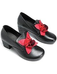 1abd03e3 Socofy Mocasines Zapatos de Mujer de Cuero Mujer Zapatos de Ballet  Mocasines Zapatos Casuales Mujer Primavera