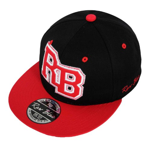 Raw Blue RB-Letterpatch-Snapback in Black / Red