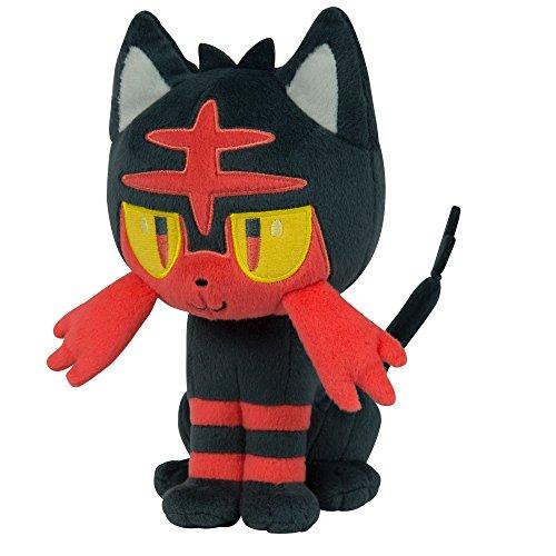 Pokemon Litten 8 Inch Plush Toy - Sitting Litten Pose