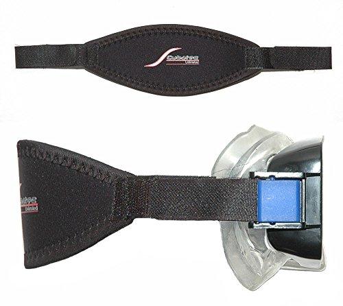 SCUBATEC Maskenband mit Klettbändern, schwarz