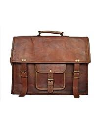 Vintage Leather Laptop Bag 15' Messenger Handmade Valentines Day Gifts For Men Women