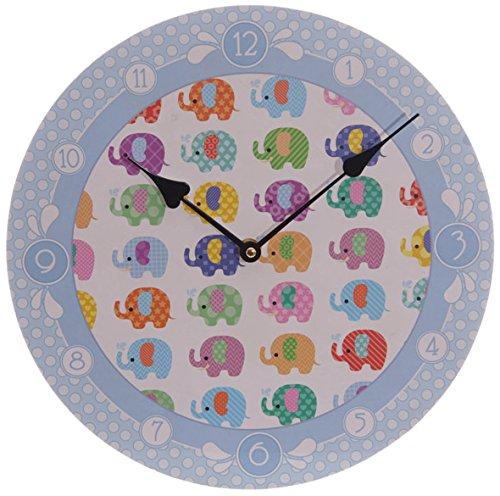 PUCKATOR CKP84 - Reloj de pared diseño impreso de elefantes