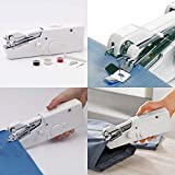 iBubble Mini Handheld Portable And Cordless Electric Stitch Home Travel Clothes Fabric Curtains Lightweight Craft Single Thread Sewing Machine Battery or Mains with Extra Bobbin & Needle & Threader