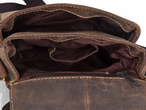 Greenburry Vintage Umhängetasche Leder 16 cm Braun