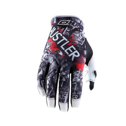 O'Neal Jump Handschuhe MX DH HUSTLER schwarz/weiss Fahrrad Handschuhe MX DH Cross Dirt Enduro, 0385JH-0, Größe X-Large (Hustler Leder)