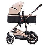 Il carrello per bambini può sedersi e tenere il carrello per neonati ( Colore : Khaki ) immagine