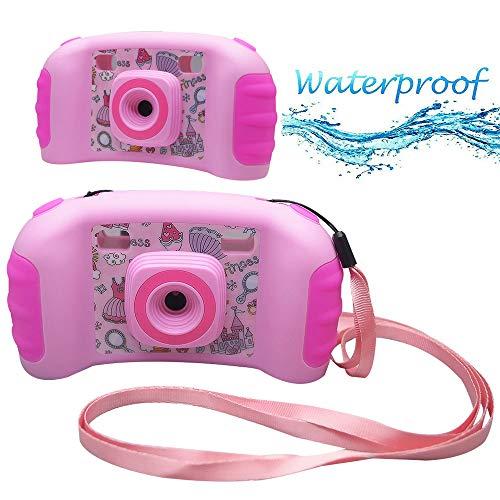 Lvreby Kinder Video Digitalkamera - Sport Action Camcorder für Jungen Mädchen Geschenke Spiel Kinder Kamera mit 1,77 Zoll Bildschirm,Pink Digitale Point-and-shoot-camcorder
