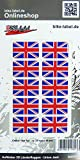 Bike Label 300507N Autocollant 3D Drapeau Union Jack Angleterre 31 x 20 mm