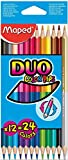 Maped Buntstift Colopeps Duo, 12-tlg, 24 Farben