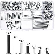 80 Set Chicago Viti di Legatura Assortiti Kit 7 Diverse Dimensioni di  Metallo Tondo Croce Testa c9f989bbc38