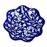 #7: Om Craft Villa Decorative Blue Pottery Plate (4 Inch)