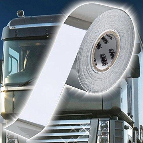 TRUCK DUCK Universal Chrom Zierstreifen 10m x 20mm Schutzfolie Streifen Aufkleber Klebeband LKW Auto Motorrad