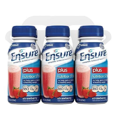 ensure-plus-ready-to-drink-nutrition-shake-8-oz-6-ea-strawberry-1-pack-by-abbott-laboratories