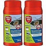 SBM Protect Home GARDOPIA Sparpaket: 2 x 250g Rodicum Wühlmaus Portionsköder + Gardopia Zeckenzange mit Lupe