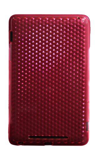 Luxburg® Diamond Design funda protectora para ASUS Google Nexus Tab 7 en color quarzo rosa, funda carcasa de silicona TPU