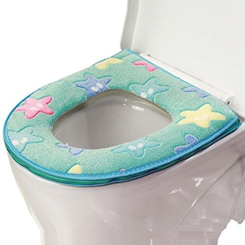 Tavoletta copri WC, ruirs Nizza lavabile bagno stella marina e cerniera design tavoletta Copri Wc Closestool Sedile Cuscino peluche Pad per l
