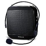 Zoweetek® Amplificateur Voix Portable Haut Parleur 18 W avec Micro Casque et Batteries Rechargeables pour Les Guides, Les Enseignants, conférenciers, animateurs / Noir,Rouge,Blue