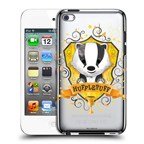 Head Case Designs Offizielle Harry Potter Hufflepuff Deathly Hallows I Harte Rueckseiten Huelle kompatibel mit Apple iPod Touch 4G 4th Gen -