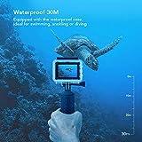 Victure Camara Deportiva Acuatica WiFi Camara de Accion Full HD 1080P 12MP Sumergible Agua hasta 30m con Pantalla LCD de 2-Pulgadas 170 Gran Angular y Accesorios Ideal para Buceo Ciclismo Surf