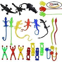 72pcs Sticky Sticky Fingers manos escalada Palmas pegajosas jalea manos juguete - Manos, escalador de pared hombre, martillos, serpientes, ranas voladoras, lagartos, escorpiones, ratón negro