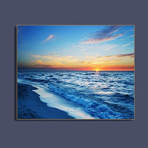 Zgldx73 Sea Sunset Seascape Beach Wall Art Poster