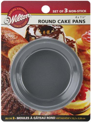 Wilton Mini Kuchen Pfannen 3/pkg-Round 4-Zoll x 1,25, andere, Mehrfarbig (Pfannen Wilton Kuchen Runde)