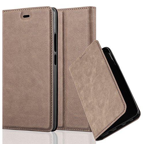 Cadorabo Hülle für ZTE Nubia Z9 MAX - Hülle in Kaffee BRAUN – Handyhülle mit Magnetverschluss, Standfunktion und Kartenfach - Case Cover Schutzhülle Etui Tasche Book Klapp Style