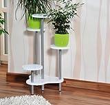 UrbanDesign MQ Blumentreppe Etagere Pflanzentreppe Pflanzenbank Blumenständer MDF Holz weiß lackiert