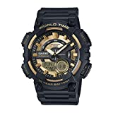 Casio Youth-Combination Analog-Digital Gold Dial Men's Watch - AEQ-110BW-9AVDF (AD206)