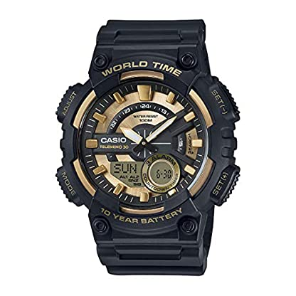 Casio Youth-Combination Analog-Digital Gold Dial Men's Watch – AEQ-110BW-9AVDF (AD206)