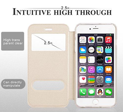 iPhone 6S Hülle,iPhone 6 Hülle,iPhone 6,Fyy® hochwertige umweltfreundliche KunstlederHülle (Tasche Schale Schutzhülle Case Cover Etui) Rosa Gold für Apple iPhone 6S/6 (4.7 Zoll) A-Gold