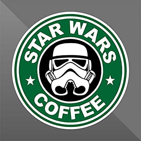 Sticker Star Wars Coffee Funny - Decal Cars Motorcycles Helmet Wall Camper Bike Adesivo Adhesive Autocollant Pegatina Aufkleber - cm 10 - Funny Car Decal Sticker