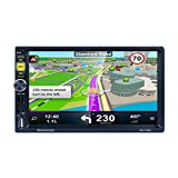 7' 2 DIN Radio autoradio GPS Specchio Link for Android iOS Suppot RDS/AM/FM libera 8G Map TF macchina fotografica d'inversione Regard