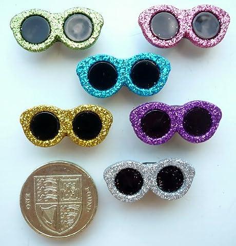 Glitter Sunglasses Craft Buttons & Embellishments by Dress It