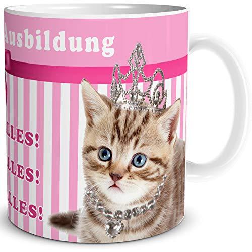 TRIOSK Tasse Katzen Prinzessin in Ausbildung und lustiger Spruch Ich Will Alles
