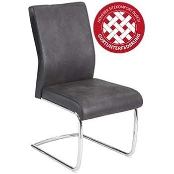 R5356 02 Jumbo Schwarz Grau Microfaser Lederlook Stuhl