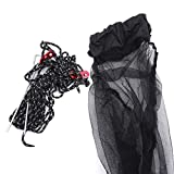 Pinhan Camping Hängematte Tragbare leichte Hängematte mit Moskitonetz für Outdoor Camping Backpacking Wandern Trekking, schwarz
