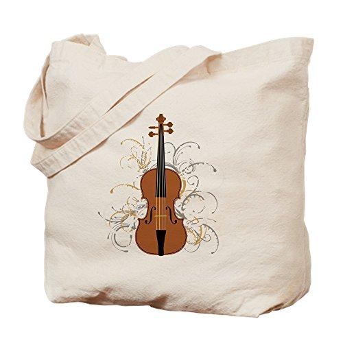 CafePress Tragetasche für Violine Wirbel (für dunkle Farben), canvas, khaki, S