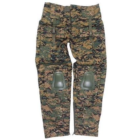 Des pantalons de camouflage numériques renforcés -
